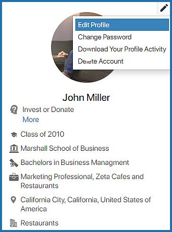 How do I edit my profile?