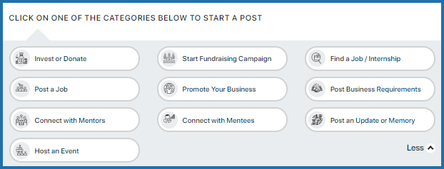 How do I publish a post to invest or donate?