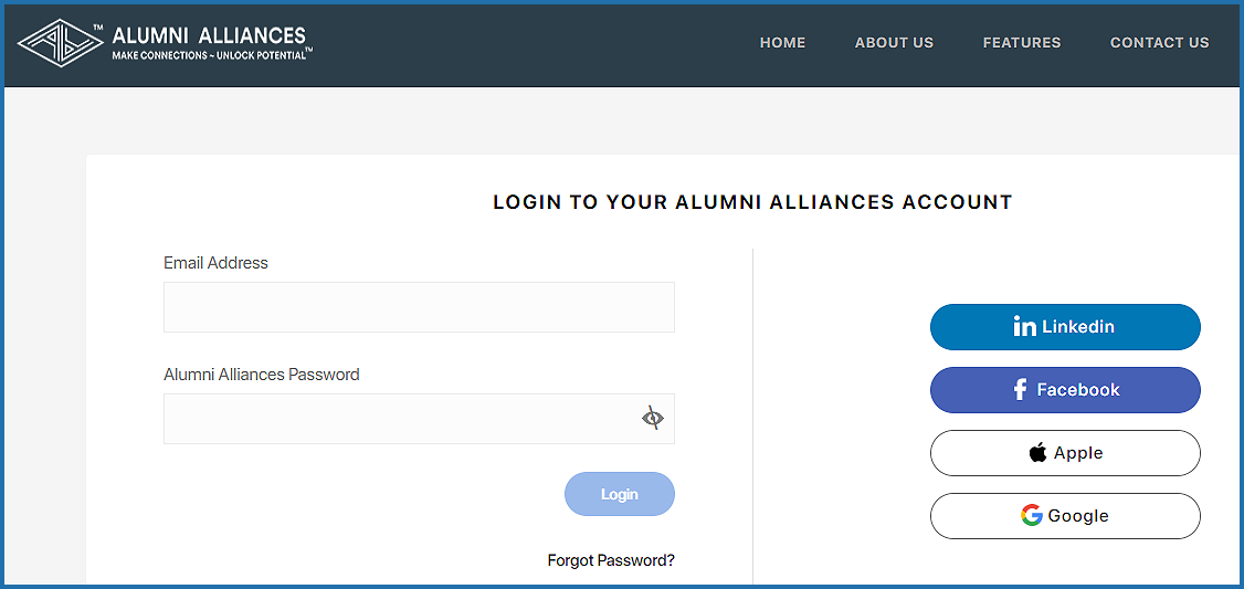What other ways can I sign up on Alumni Alliances?