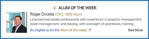 Who is the Alum of the Week?