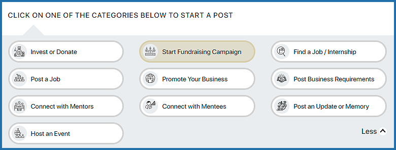 How do I publish a post to fundraise for a campaign?